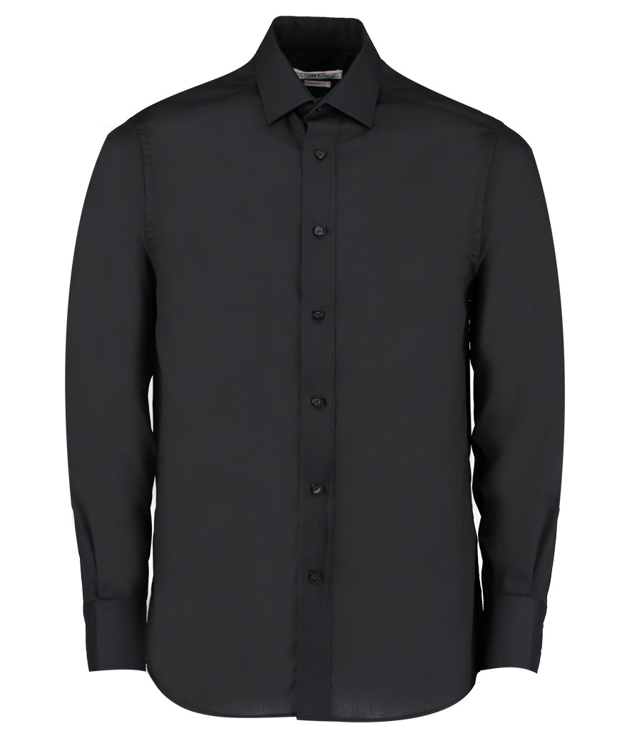 738fba1b818 K131 - Kustom Kit Long Sleeve Tailored Business Shirt